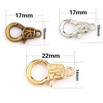 New Handcuffs Lock Rose Gold&White K Lobster Clasps Hook Key Chain Components DIY Jewelry Bracelet Making Accessories