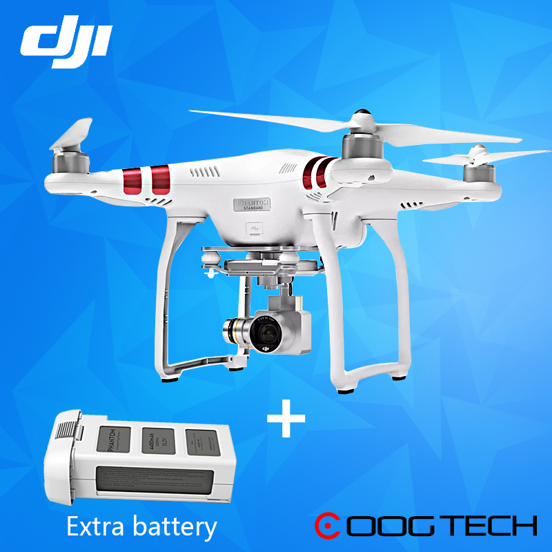 DJI Phantom 3 Standard drone with 1 extra battery with 2.7K HD camera &gimbal RC Helicopter  100% Original original dji phantom 3 100w battery charger for phantom 3 aerial rc helicopter fpv camera drone