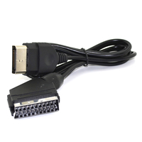 50pcs High quality 1.8m Audio Video AV Scart Cable for Nintendo for Xbox Console