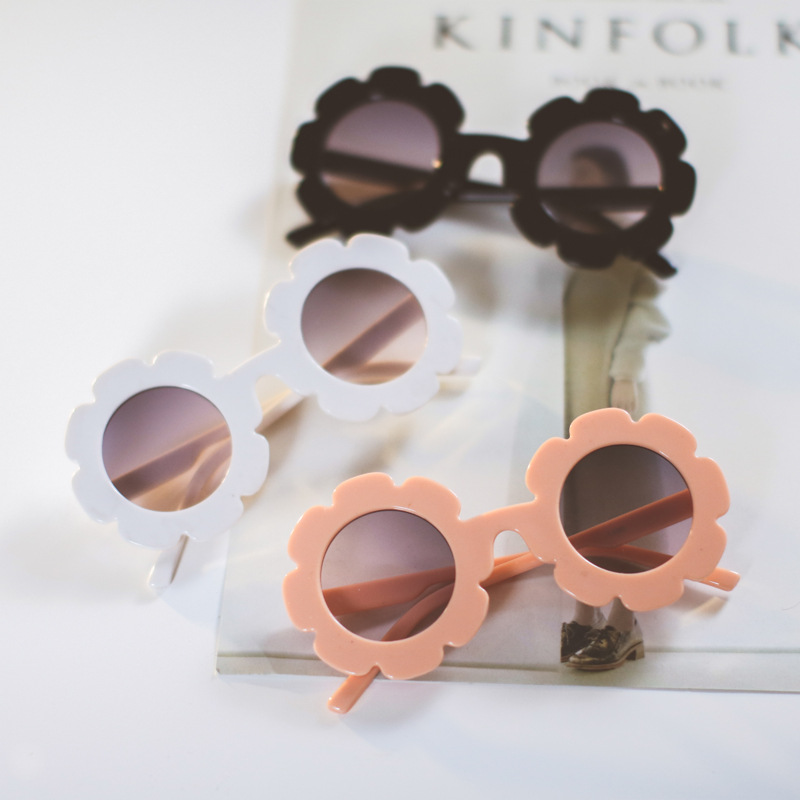 2018 Sun Flower Kids Sunglasses Boys Girls Round UV400 Glasses Sunglasses Children Lovely Baby Sun Glasses Gafas De Sol Mujer