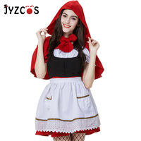 JYZCOS Little Red Riding Hood Costume Halloween Costumes for Women Anime Cosplay Costume Party Christmas Costume