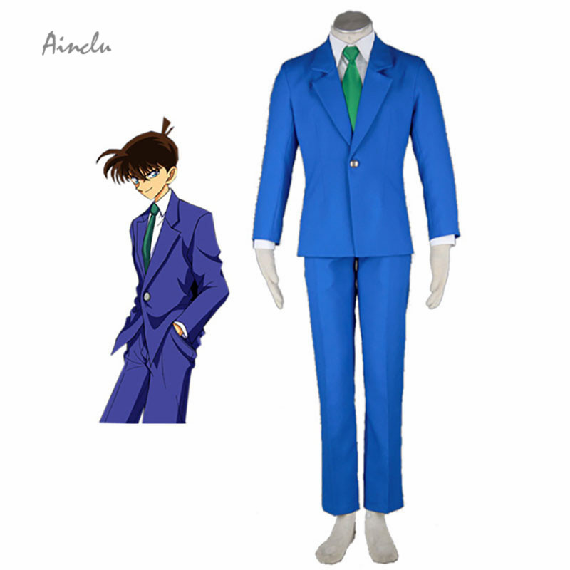 Ainclu Blue Detective Conan-Man's Winter Uniform Cotton Polyester Halloween Cosplay Costume For Adult and Kid costumes