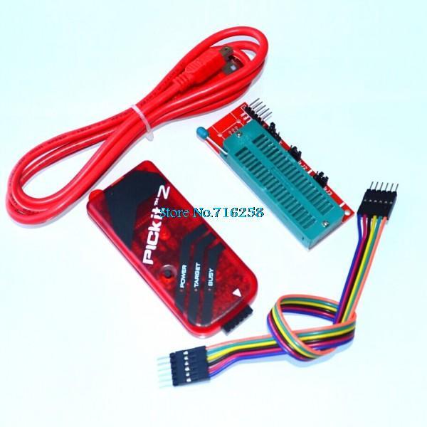 PICKIT2 программатор + PIC ICD2 PICKit 2 PICKIT 3 программирующий адаптер Универсальное программатное сиденье