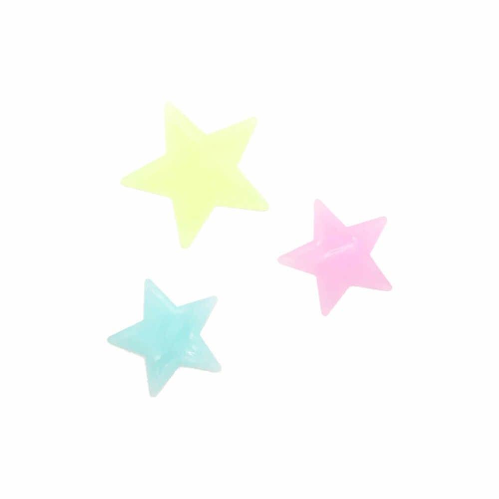 30 قطعة DIY الاطفال غرفة نوم الفلورسنت توهج في الظلام ندفة الثلج ملصقات جدار الأزرق الأخضر متعدد الألوان الوردي دروبشيبينغ 2T37
