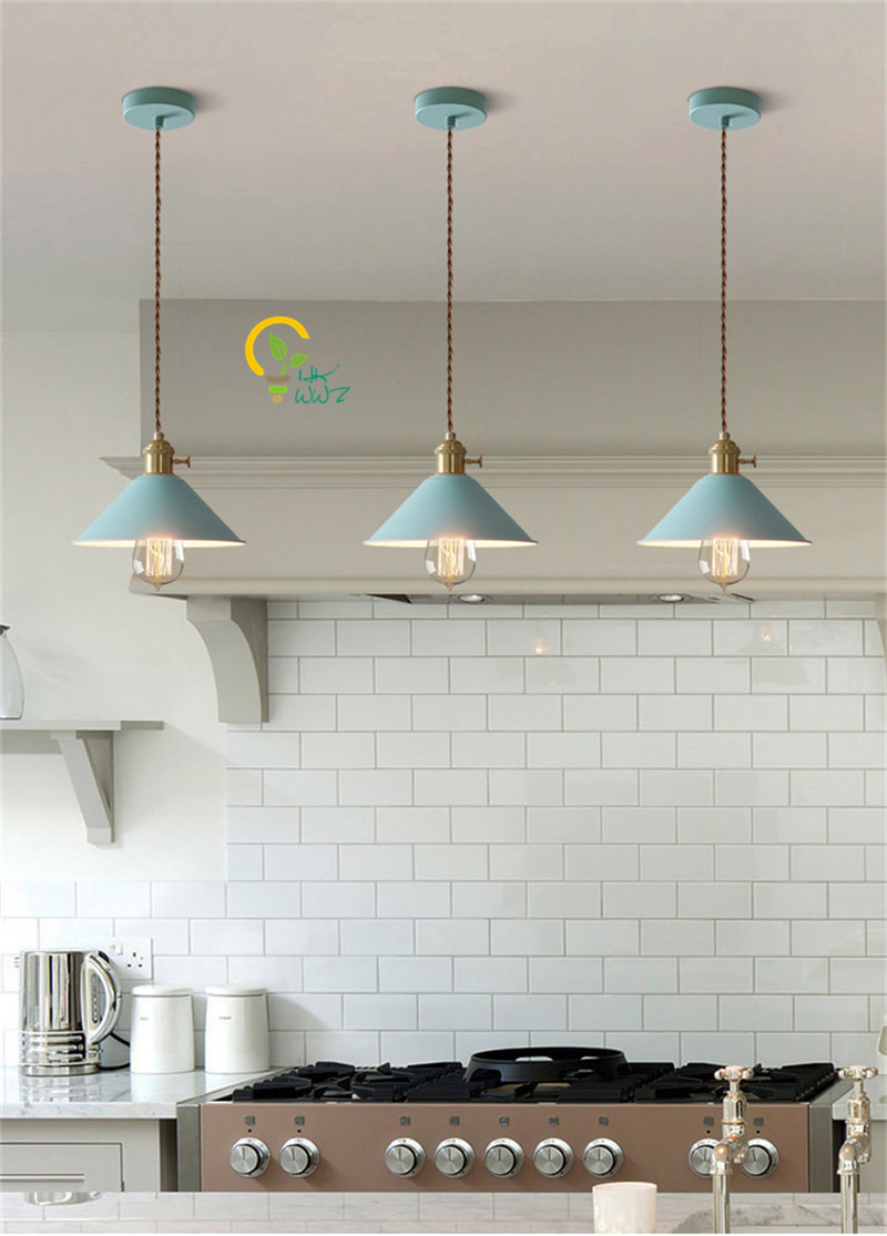 Nordic Colorful Led Pendant Lights Dining/living room Hanglamp ...