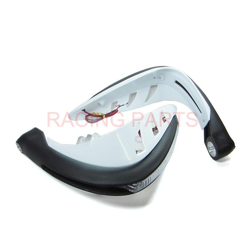 Protecteurs universels de main de Motocross de Motocross un ensemble de protection de guidon de combinaison avec la lumière LED de clignotants