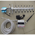 GSM 900 mhz Cell phone signal booster GSM repetidor de sinal amplificador com display LCD 13dbi yagi conjunto completo