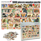 MOMEMO Cats Wooden A...