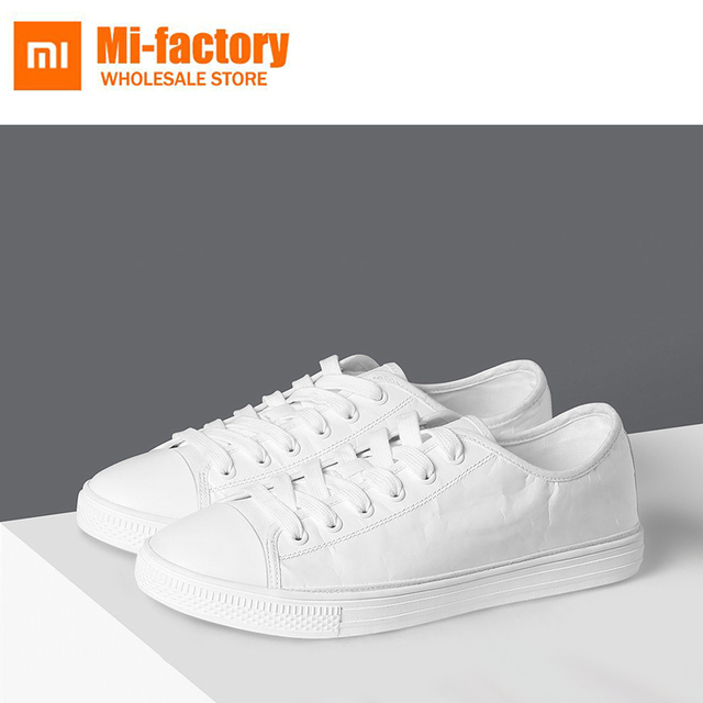 ccff2c28f464 New Xiaomi Spring and Summer With DIY White Shoes Men Comfortable  Waterproof Canvas Shoes White Board Shoes Casual Shoes Boy
