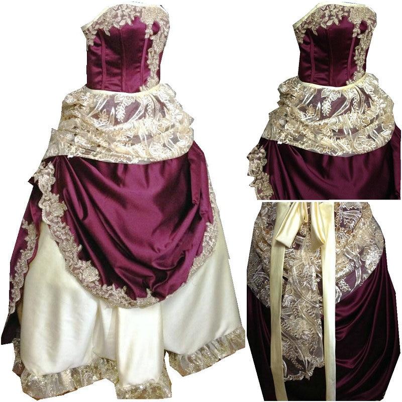 Vintage Us Sz Victorienne Halloween Southern Gothique 6xl Bal Robes guerre Robe De Civile Lâche D 26 097 Xs 6 Belle Zqf67