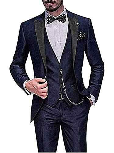 (Пиджак + жилет + брюки), 2019, на заказ, приталенные, на одной пуговице, мужские свадебные костюмы с отворотом, мужские костюмы, Женихи, мужской смокинг, Лучший человек, 3 предмета