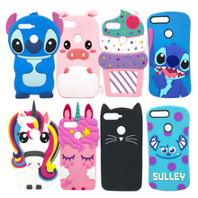 For Huawei Y6 Prime 2018 Case Cute 3D Cartoon Soft Silicon Mobile