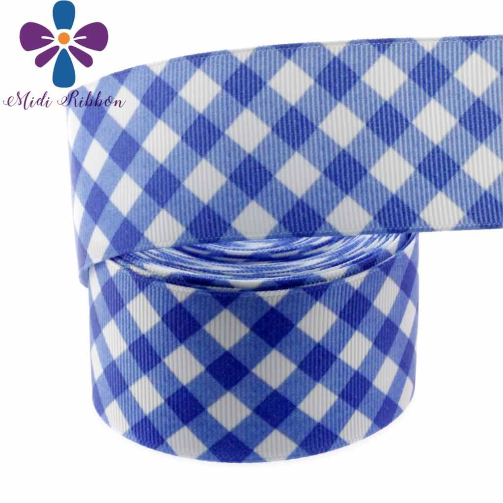 "Mid Blue Gradient 38mm 1.5/"" Grosgrain Ribbon per meter"