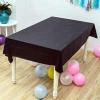 1PCS Wedding Party Black Solid Color Table cover Baby Shower Decorate Maps Happy Birthday Kids Girls Favors Events Tablecloth