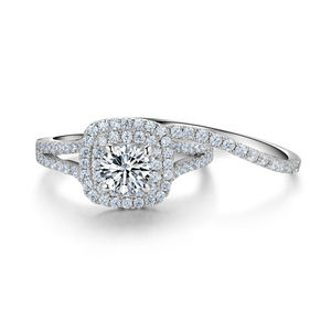 Image 4 - Newshe 2 Pcs מוצק 925 כסף סטרלינג נשים של חתונה טבעת סטים ויקטוריאני סגנון כחול צד אבנים קלאסי תכשיטי עבור נשים