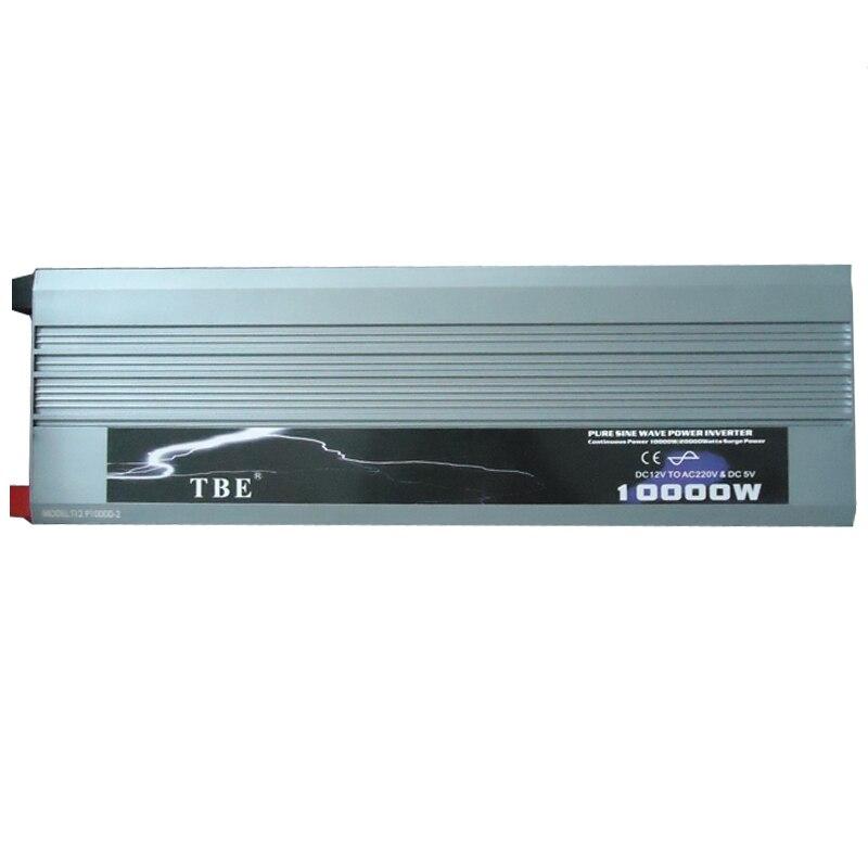 10000W Onda Sinusoidale Pura Solar Power Inverter Dc 12 V 24 V 48 V a 220 V Ac 110 V Converter Adapter con Il Caricatore Usb Potenza di Picco 20000W - 2