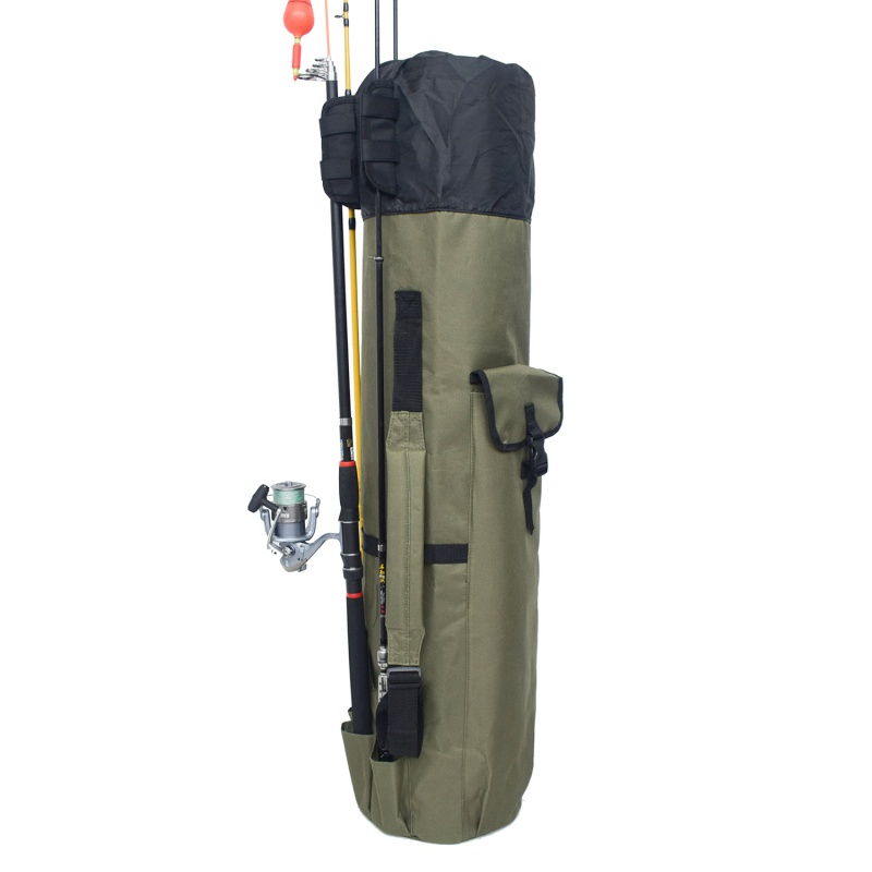 Image 2 - Fishing Portable Multifunction Nylon Fishing Bags Carrier Rod Case Fishing Tackle Tools Storage Traveling Bag-in Fishing Bags from Sports & Entertainment