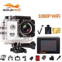 Goldfox 2.0 inch 1080P Full HD WiFi Action Camera 30M Go Waterproof Pro Bike Helmet Cam Mini video camera Wholesale Dropshipping