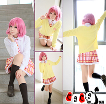 Kitted Sweater Coat + Skirt + +shirt+Necktie+wigs Noragami Ebisu Kofuku Cosplay Costume Dress Cosplay Costume Halloween Costumes