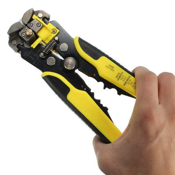 Multifunctional Automatic Wire Stripper Crimping Pliers Terminal Tool Yellow rasp dremel 2016  цены