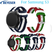 Nylon Watchband for Samsung Gear S3 Classic/ Frontier 22mm Watch Band for Huami Amazfit Stratos 2/2s Strap Replacement Bracelet 22mm silicone sport watch band for samsung gear s3 smart watch strap for xiaomi huami amazfit stratos 2 2s replacement watchband