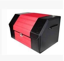 Nova Caixa de Armazenamento Mala Do Carro Dobrável Saco de Armazenamento De Dobramento De Couro PU KLMH-2
