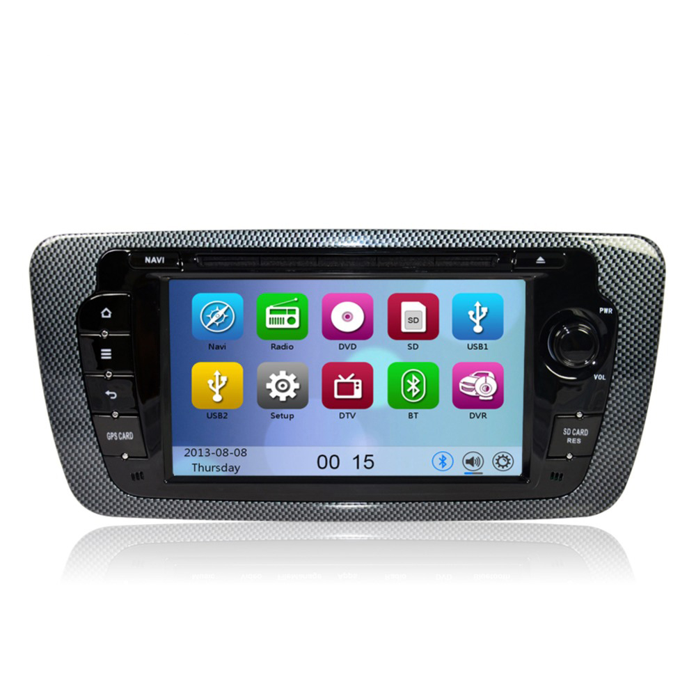 car dvd gps navigation player for seat ibiza 2009 2010 2011 2012 2013 with radio bluetooth can. Black Bedroom Furniture Sets. Home Design Ideas