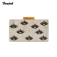 Pearlescent Nude Eye Styles Acrylic Clasp Purse Wallet Striped Acrylic Purse Clutch Women Shoulder Messenger Party Acrylic Bags