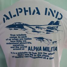 Alpha Industries Air Force Army wwii Military T-shirt Size M Tee Shirt Hipster Harajuku Brand Clothing T Shirt все цены