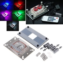 OPEN-SMART CPU Acrylic Top Water Cooling Block Sprayable Liquid With Channel for AMD 771 AM2 AM3 AM3+ AM4