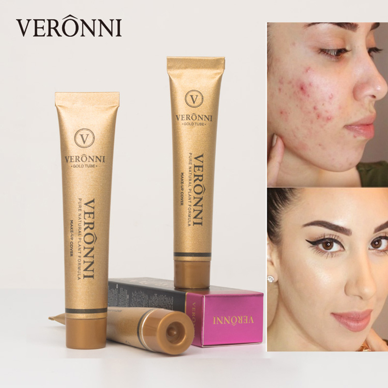 VERONNI Makeup Concealer Full Professional Corrector Face Primer Contour Concealing Dark Circle Cover Base Foundation Cream image