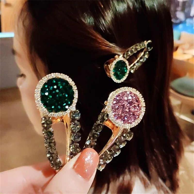 1 Pcs Fashion Kristal Berlian Imitasi Mutiara Jepit Rambut Gadis Jepit Rambut Klip Clamp Perhiasan Alat Styling Rambut Wanita AccessoriesF246