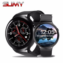 Viscoso Bluetooth Relógio Inteligente I4 Além Disso Android 5.1 RAM 1 GB ROM 16 GB GPS Smartwatch Wi-fi Cartão Nano SIM 3G Homens Relógio de Pulso Relogio