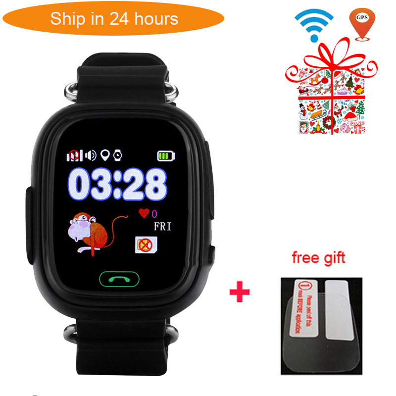 US $19 36 36% OFF|Q90 GPS smart watch baby watch with WIFI for App android  phone SOS Call Location Finder Device Anti Lost Reminder PK Q50 Q100-in