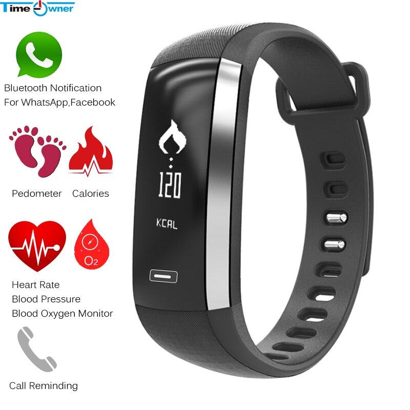 imágenes para Propietario de tiempo M2 Inteligente Pulsera Bluetooth Notificación Tasa de Oxígeno En La Sangre Del Corazón/Presión control de Actividad para iPhone Android Xiaomi