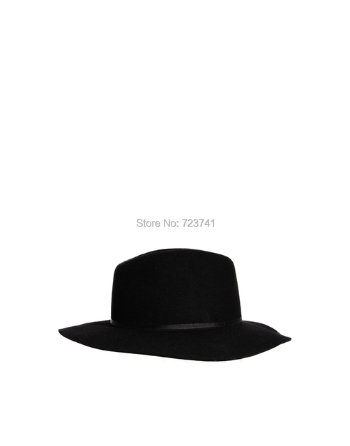 6f47446024a 100% Wool Women s Black Fedora hats Trilby felted Sun hat Size 56-58CM  adjusted IN Stock