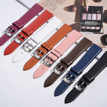 1pcs 12mm 14MM 16MM 18mm 20mm 22mm soft genuine leather grain (cow) watch band watch strap men and women belts
