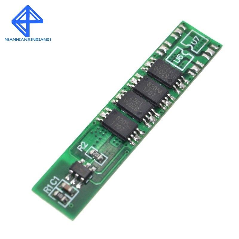 Защитная плата li-ion BMS PCM для батарей 18650, 1S, 10 А, 3,7 В