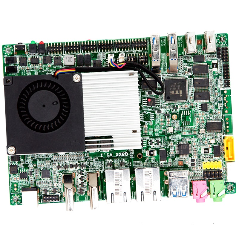 Qotom 6*COM Dual Lan Pentium Processor 3805U ,2M Cache on board Mini ITX board Suitable For POS Machine kiosk device