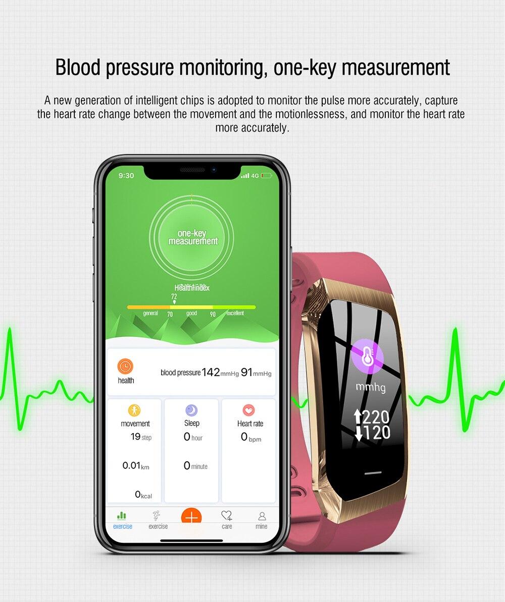 SANDA E18 Smart Watch IP67 Waterproof Heart Rate Monitor Blood Pressure Bluetooth Men Women Smartwatch For Android IOS Phone