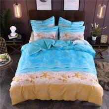 Beach Starfish Printing Bedding Set Simple Pillowcase Duvet Cover 2/3pcs Home Textile (No Sheet No Filling)