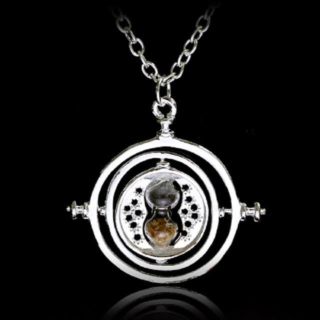 Vintage creative 360 degree rotatable horcrux harry p time converter vintage creative 360 degree rotatable horcrux harry p time converter hourglass pendant necklace time turner for mozeypictures Image collections