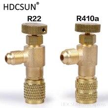 Высокое качество жидкости предохранительный клапан R410A R22 хладоагент кондиционирования воздуха 1/4 «адаптер безопасности кондиционер ремонт и фтора