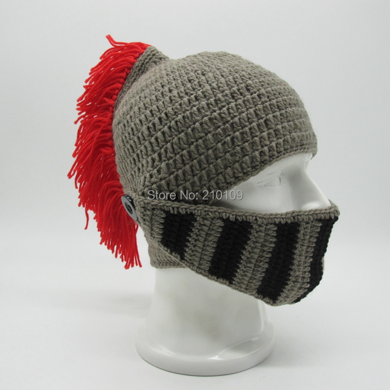 2 Red Tassel roman hat with mask