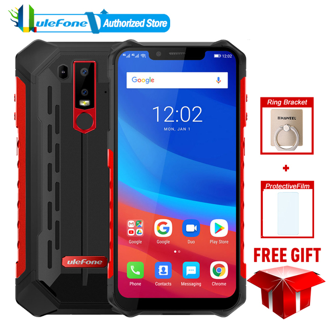 Ulefone Armor 6 IP68 Waterproof Mobile Phone Android 8.1 6.2″ FHD+ Octa Core helio P60 6GB 128GB Global Version Smartphone