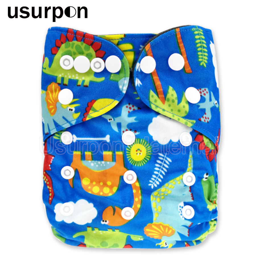[usurpon] 1pc Bamboo Charcoal Baby Cloth Diaper Reusable Washable Pocket Bamboo Diaper For Baby Ecological Diaper Suit 0-2 Years