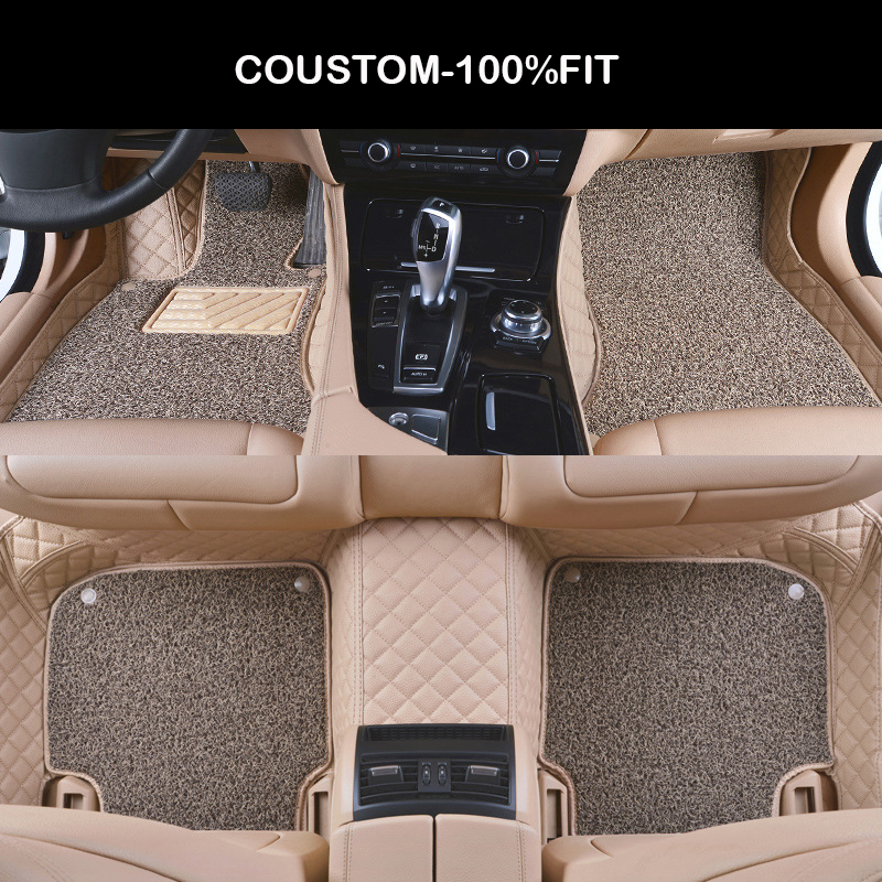 Custom car floor mats for Audi a4 b6 a6 c5 b8 A6L R8 Q3 Q5 Q7 S4 Quattro A1 A2 A3 A4 A6 A8 car stylingcar car accessorie universal car seat cover for audi q3 q2 q5 q7 a1 a2 a4 a6 a8 a4l a6l tt tts car accessories car sticker free shiping