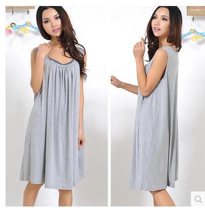 Night Dress 2019 Plus Size New summer style Modal loose Nightgown  Nightdress pijama Ladies Sleepwear Women nightwear AW8302-in Nightgowns    Sleepshirts from ... 14ed133f7a4a