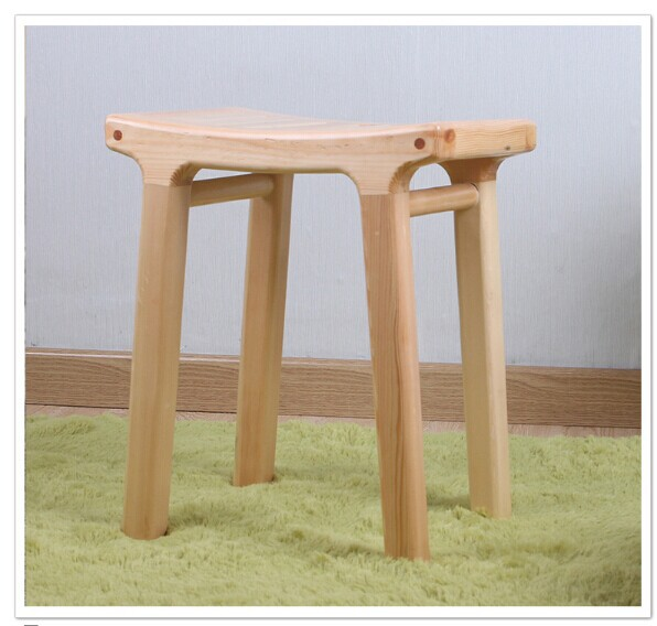100 Wooden Stool Pure Natural Handmade Solid Wood Furniture