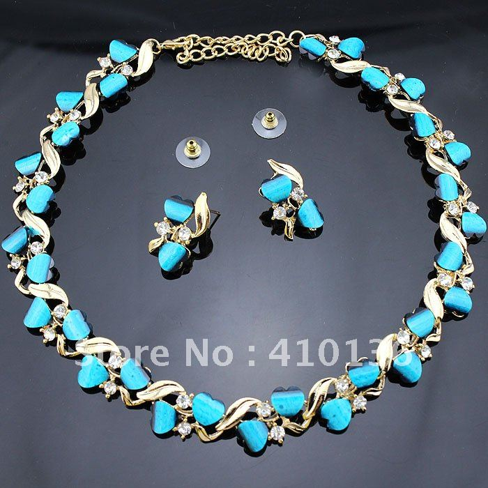 Aliexpress Com Buy 1440pcs Gold Bottom Crystal Clear: Min.Order $10 PN12367 Hot Sale Jewelry Set Gold Plated